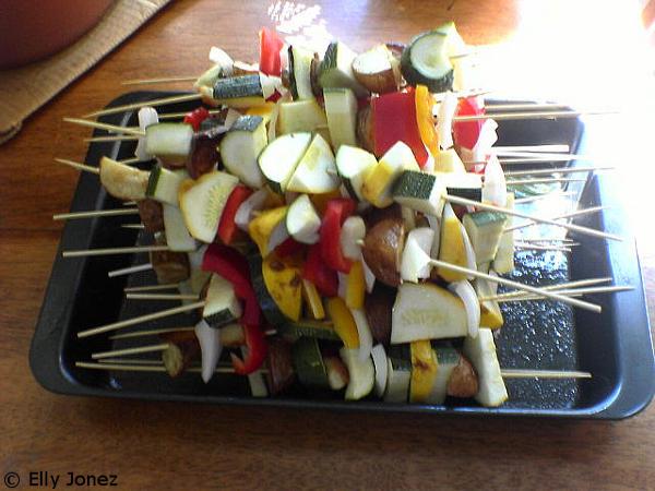 vegetarian braai, veggie skewers
