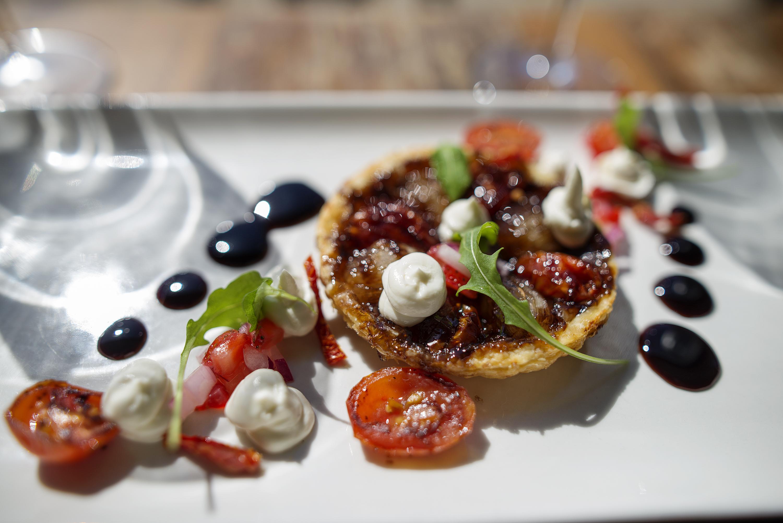 Baked Onion and Tomato Tart Tatin - Shimmy Beach Club Winter Menu
